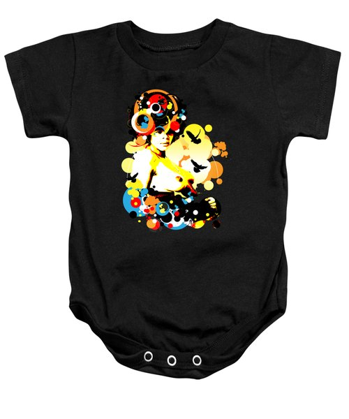 Onyx Doves Baby Onesie by Chris Andruskiewicz