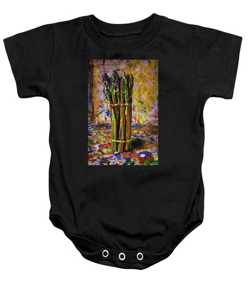 Painted Asparagus Baby Onesie by Garry Gay