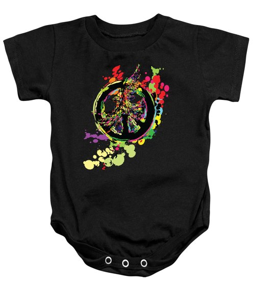 Peace And Peace Baby Onesie by Cindy Shim