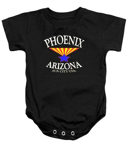 Phoenix Arizona Tshirt Design Baby Onesie by Art America Online Gallery