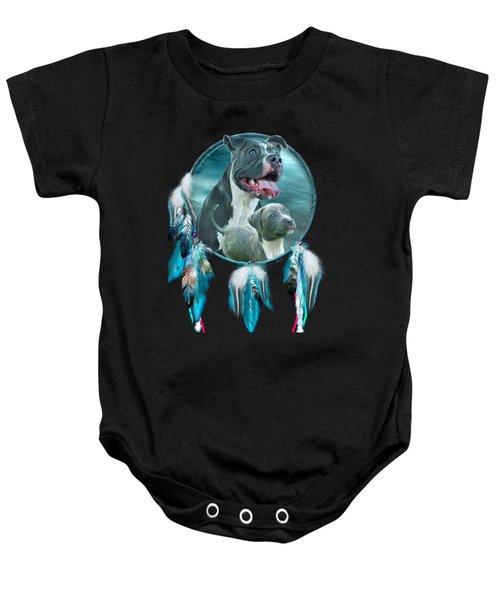 Pit Bulls - Rez Dog Baby Onesie by Carol Cavalaris