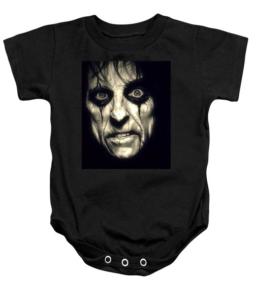 Poison Alice Cooper Baby Onesie by Fred Larucci