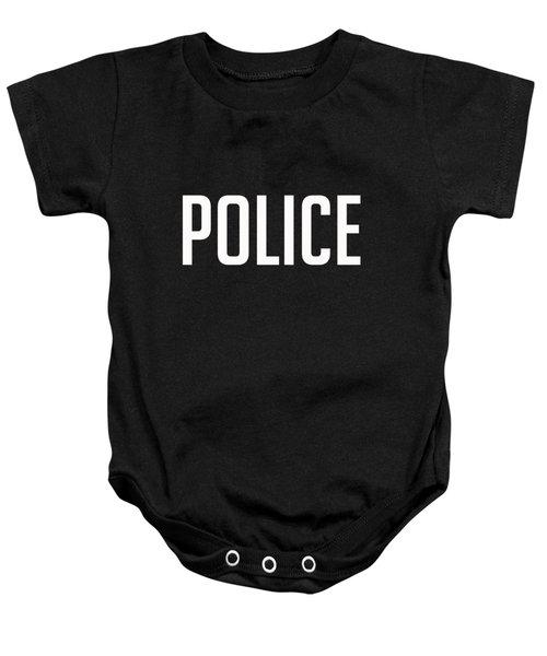 Police Tee Baby Onesie by Edward Fielding