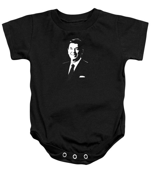 President Ronald Reagan Baby Onesie by War Is Hell Store