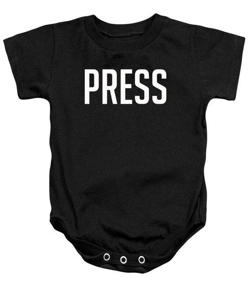 Press Tee Baby Onesie by Edward Fielding