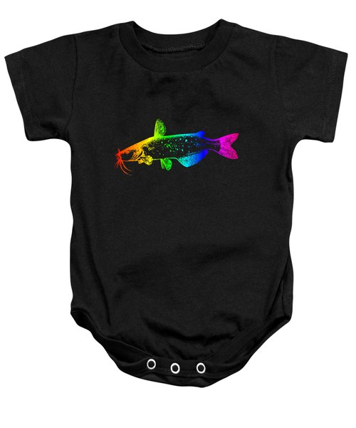 Rainbow Catfish #2 Baby Onesie by Frederick Holiday