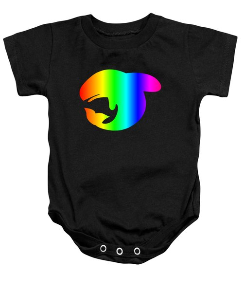 Rainbow Whale Baby Onesie by Frederick Holiday
