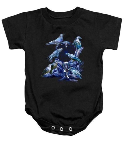 Raven Dreams Baby Onesie by Carol Cavalaris