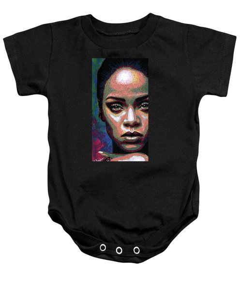 Rihanna Baby Onesie by Maria Arango