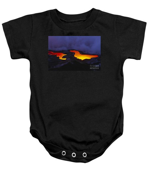 River Of Lava Baby Onesie by Peter French - Printscapes