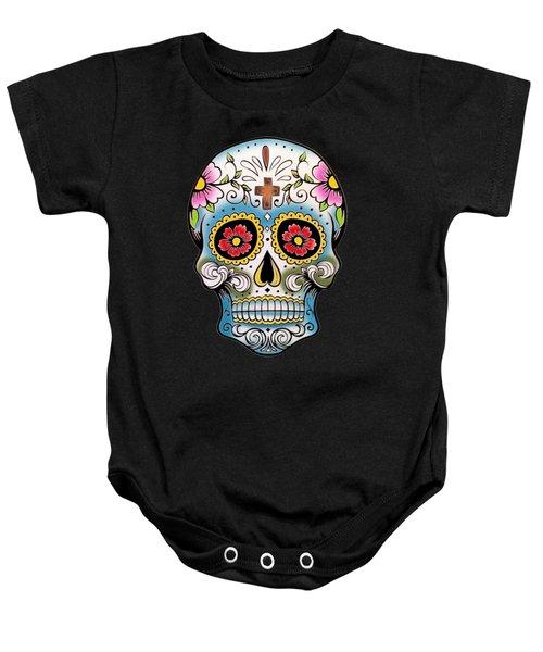 Skull 10 Baby Onesie by Mark Ashkenazi