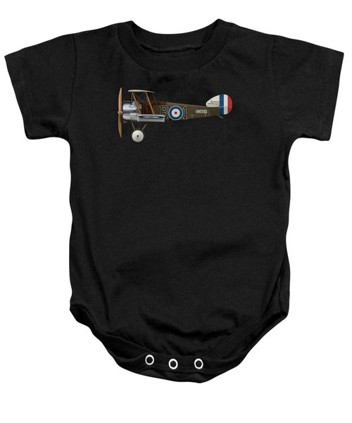 Sopwith Camel - B3889 - Side Profile View Baby Onesie by Ed Jackson