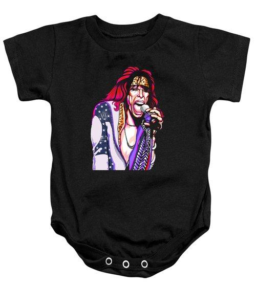 Steven Tyler Of Aerosmith Baby Onesie by GOP Art