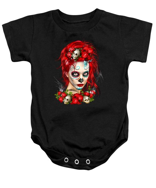 Sugar Doll Red Baby Onesie by Shanina Conway