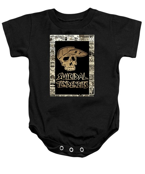 Suicidal Tendencies 2 Baby Onesie by Michael Bergman