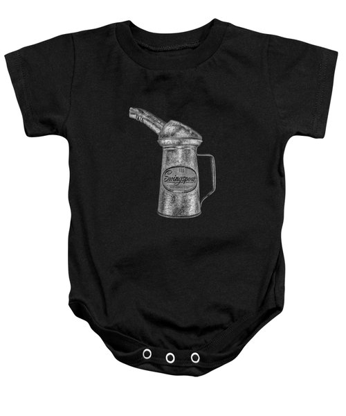 Swingspout Oil Can Bw Baby Onesie by YoPedro