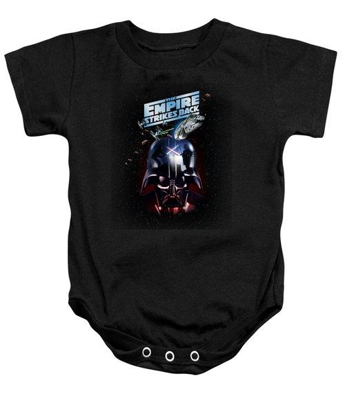 The Empire Strikes Back Baby Onesie by Edward Draganski