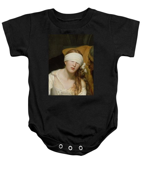 The Execution Of Lady Jane Grey Baby Onesie by Hippolyte Delaroche