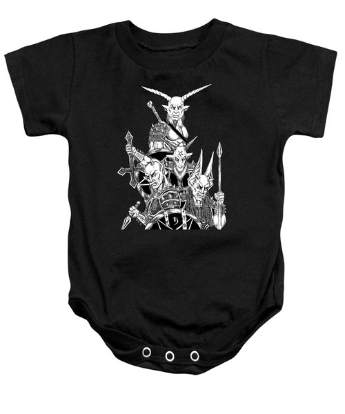 The Infernal Army Black Version Baby Onesie by Alaric Barca