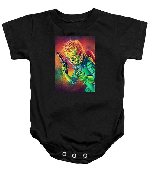 The Martian - Mars Attacks Baby Onesie by Taylan Soyturk