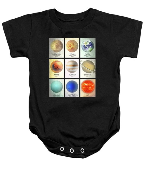 The Planets Baby Onesie by Mark Rogan