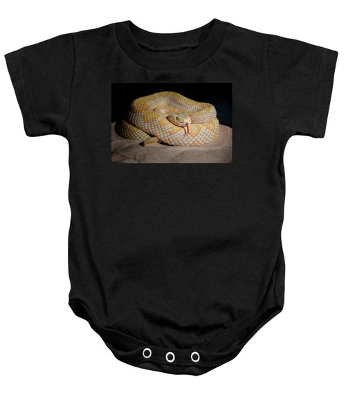 The Western Diamondback Rattlesnake Baby Onesie by Scott Mullin