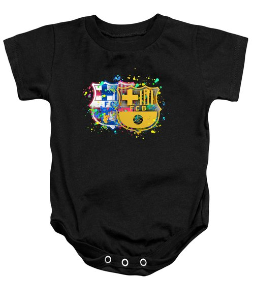 Tribute To Fc Barcelona 8 Baby Onesie by Alberto RuiZ
