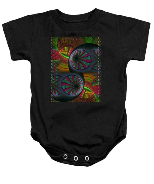 Tunneling Abstract Fractal Baby Onesie by Sharon and Renee Lozen