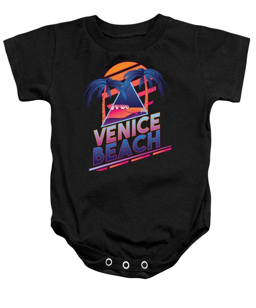Venice Beach 80's Style Baby Onesie by Alek Cummings