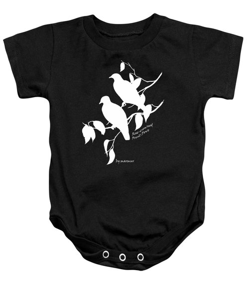 White Doves Baby Onesie by The one eyed Raven