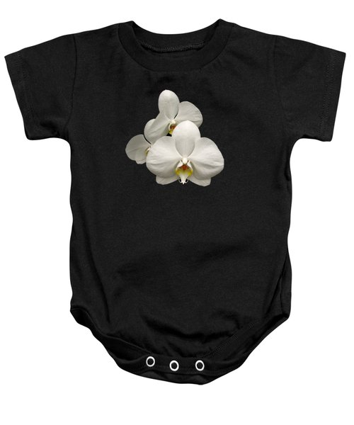 White Orchids Baby Onesie by Rose Santuci-Sofranko