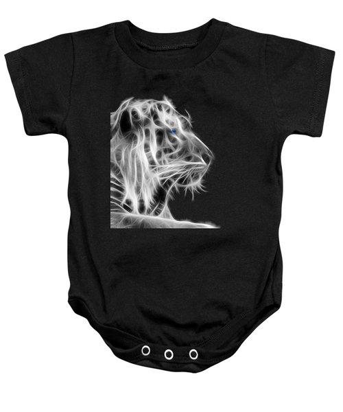 White Tiger Baby Onesie by Shane Bechler
