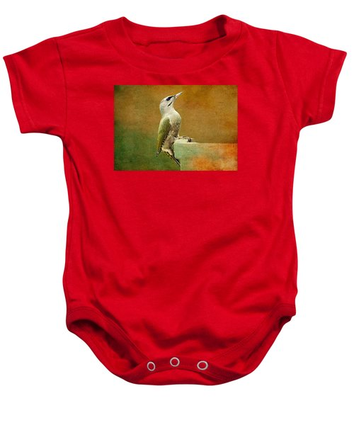 Grey-headed Woodpecker Baby Onesie by Heike Hultsch