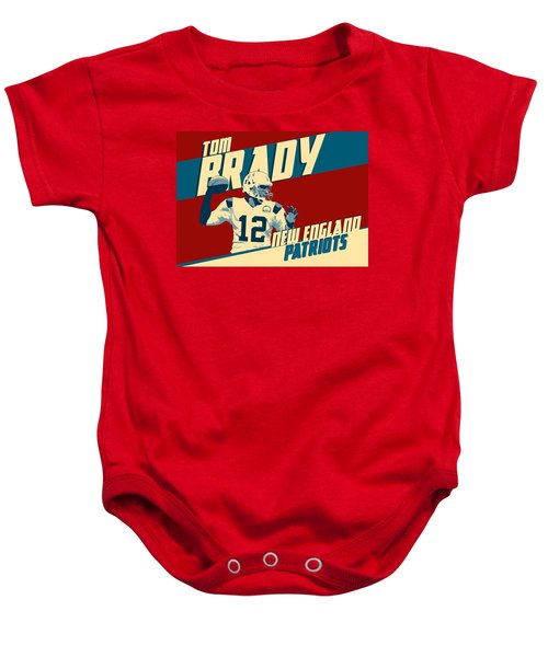 Tom Brady Baby Onesie by Taylan Soyturk