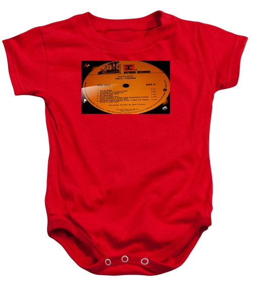 Harvest Neil Young Side 2 Baby Onesie by Marcello Cicchini
