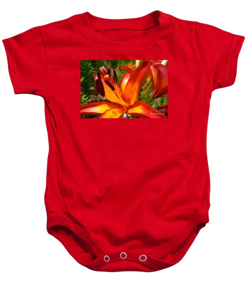 Royal Sunset Lily Baby Onesie by Jacqueline Athmann