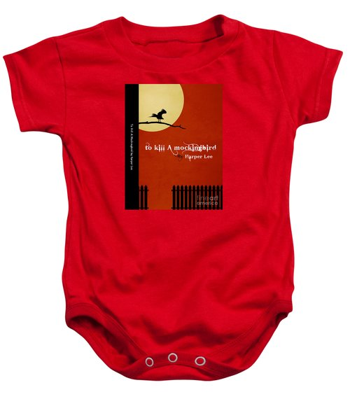 To Kill A Mockingbird Book Cover Movie Poster Art 1 Baby Onesie by Nishanth Gopinathan