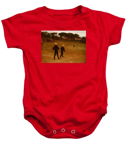 The Ball Players Baby Onesie by William Morris Hunt