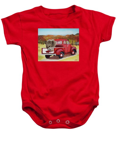 Ridin' With Razorbacks 2 Baby Onesie by Belinda Nagy
