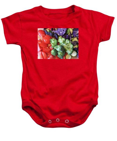 Raw Ingredients Baby Onesie by Tom Gowanlock