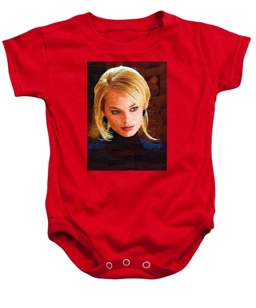 Margot Robbie Painting Baby Onesie by Best Actors