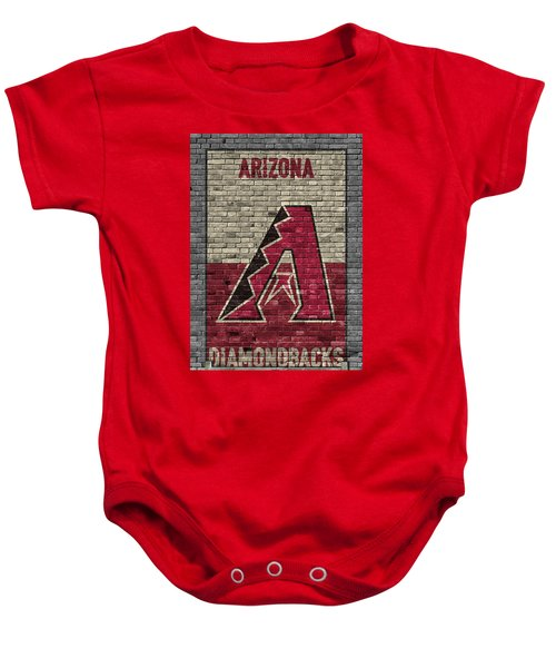 Arizona Diamondbacks Brick Wall Baby Onesie by Joe Hamilton