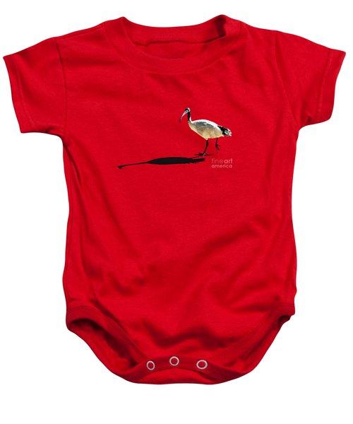 Bribie Island Ibis Baby Onesie by Susan Vineyard