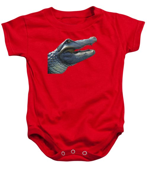 Bull Gator Portrait Transparent For T Shirts Baby Onesie by D Hackett
