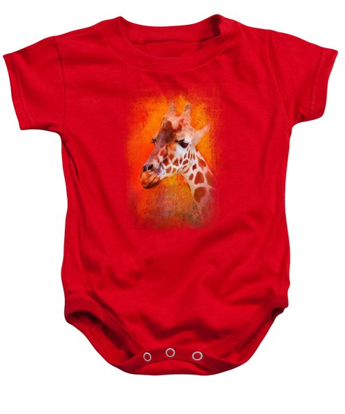 Colorful Expressions Giraffe Baby Onesie by Jai Johnson