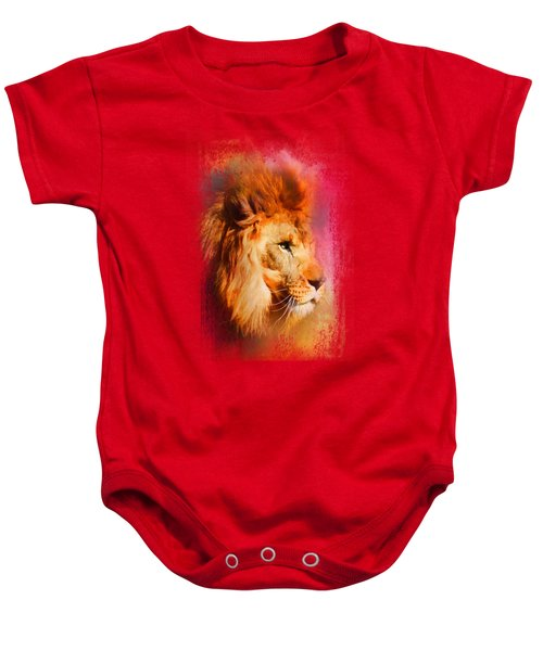 Colorful Expressions Lion Baby Onesie by Jai Johnson