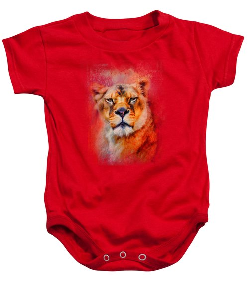 Colorful Expressions Lioness Baby Onesie by Jai Johnson