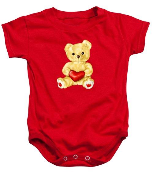 Cute Teddy Bear Hypnotist Baby Onesie by Boriana Giormova