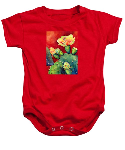 Desert Bloom Baby Onesie by Hailey E Herrera