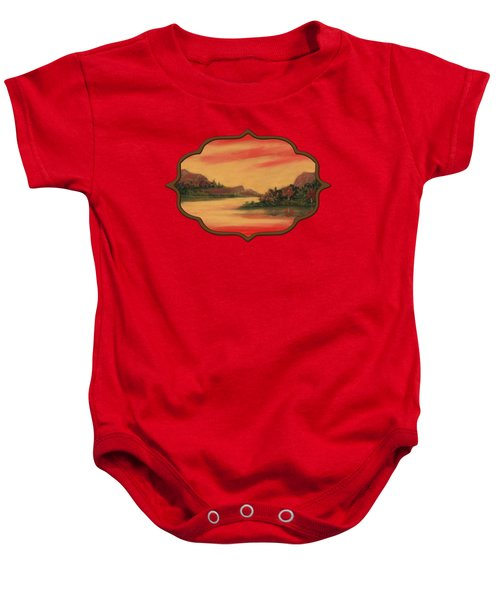 Dragon Sunset Baby Onesie by Anastasiya Malakhova
